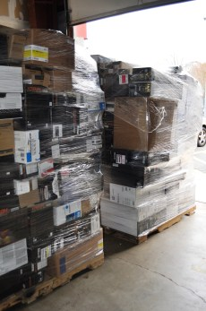 We recycle a staggering 12 tons of printer cartridges per year, resulting in a reduction of over 10,000 cubic feet of landfill waste.
