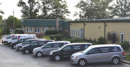 Laser Line Service vans