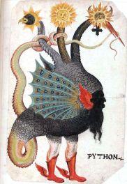 Python Mercurius as three-headed dragon German circa 1600