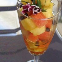fruit parfait, papaya, pineapple Amalia Moreno-Damgaard chef