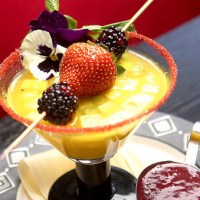 Amalia Moreno-Damgaard: coctel de frutas, fruit cocktail, orange, kiwi, strawberry