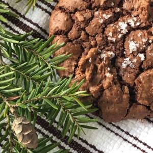 Schoko Crinkle Cookies mit Meersalz
