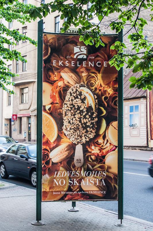 Ekselence saldējums reklāma Amalija Andersone ēdienu foto
