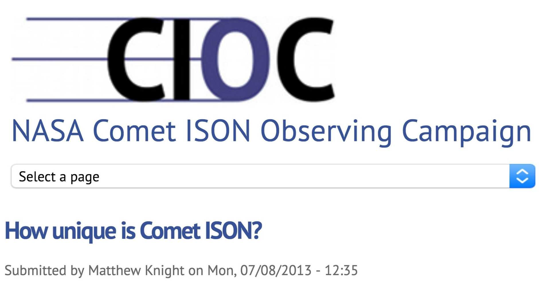NASA Comet ISON Observing Campaign-25