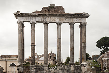 The Roman Temple of Saturn