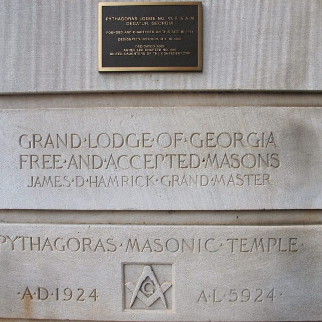 Pythagoras Lodge No. 41 cornerstone (Wikipedia)