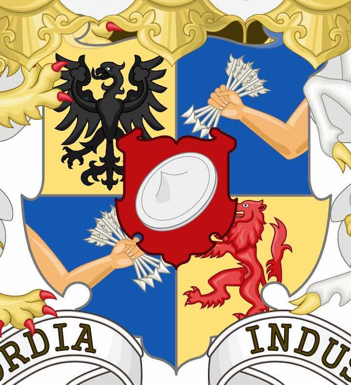 Shield on The Rothschild Coat of Arms (lmedium)