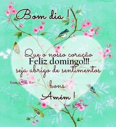 Bom dia feliz domingo do fundo do meu coração para você!