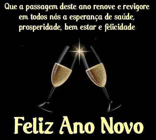 Feliz ano novo com saúde, prosperidade, bem estar e felicidade