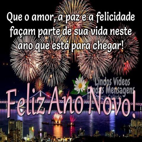 Feliz ano novo com amor, paz e felicidade