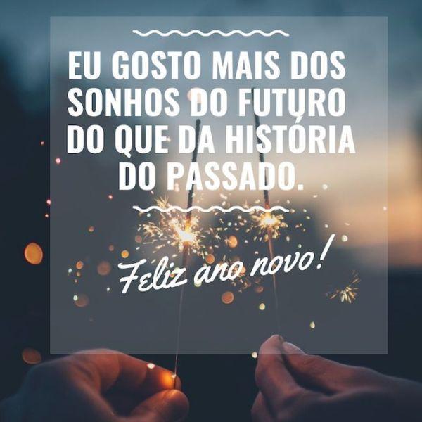 Feliz ano novo com sonhos futuros