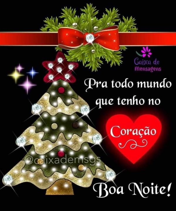 Boa noite feliz natal a todos que tenho no meu coração,