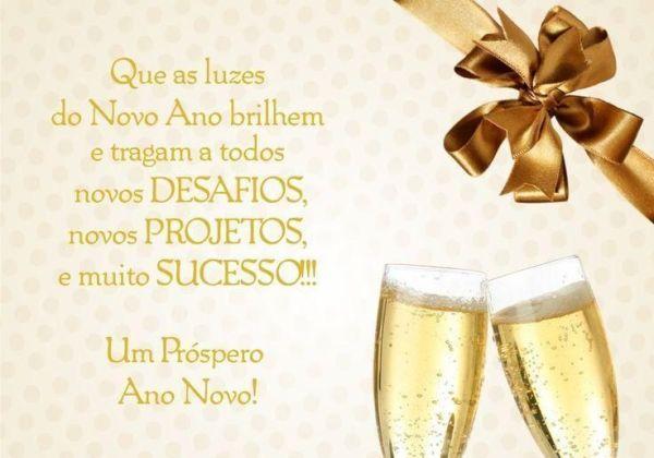 Feliz ano novo de desafios, projetos e sucesso
