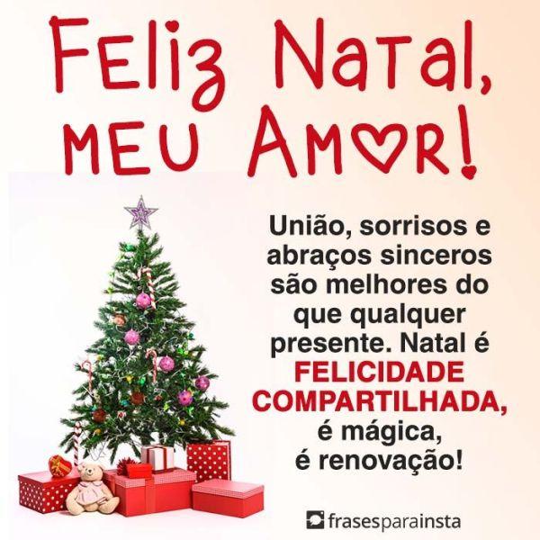 Feliz natal meu a amor, que sua vida seja feliz e que todos os seus sonhos seja realizados