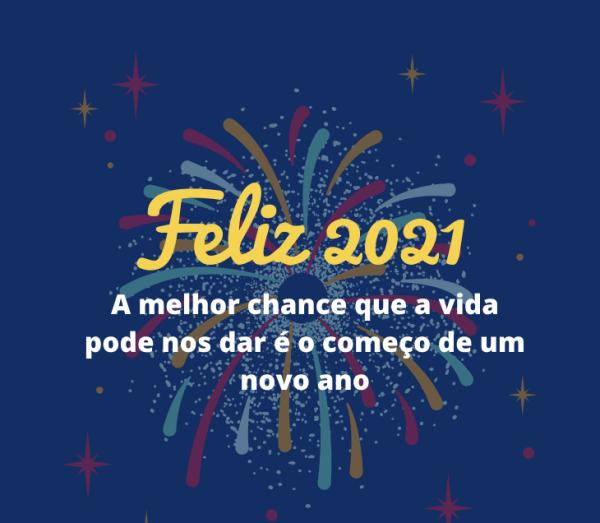 Feliz 2021, Feliz ano novo