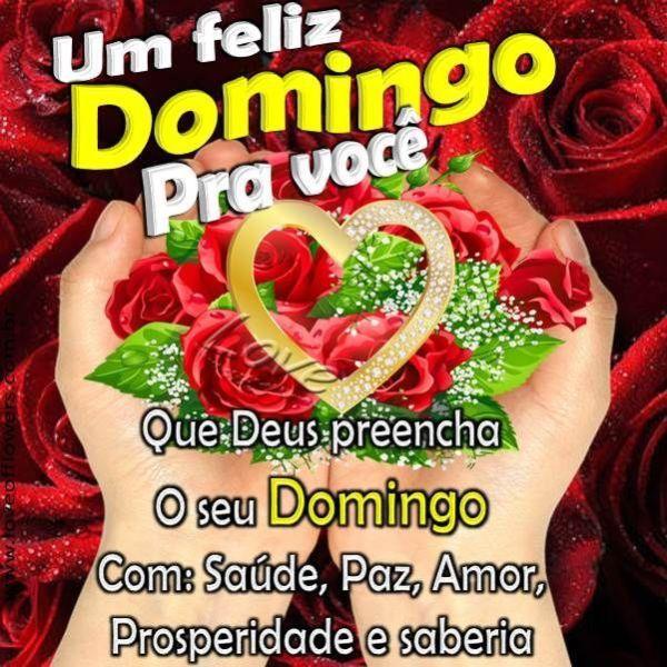 Feliz domingo com saúde, paz, amor, prosperidade e sabedoria
