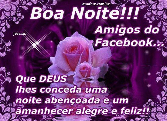 Uma linda noite com flor para amigos do facebook