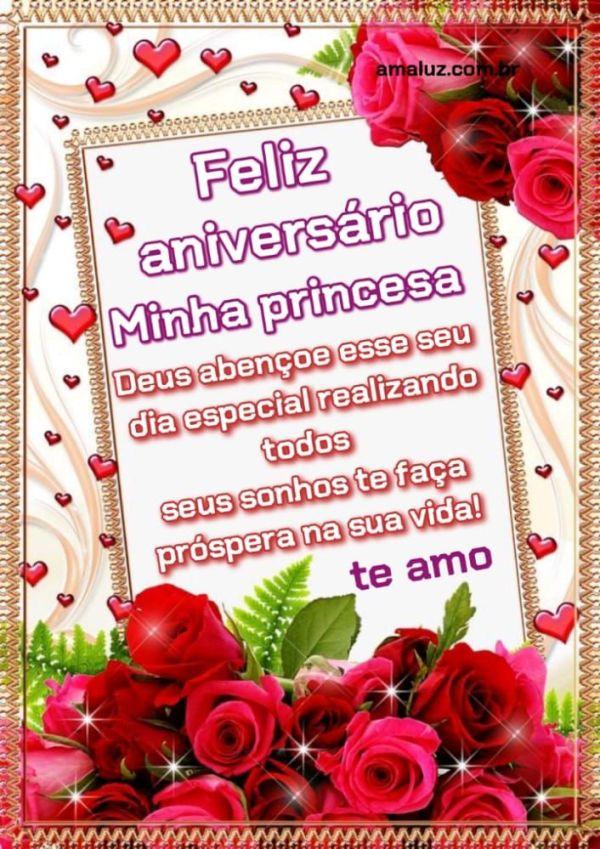 Feliz aniversário minha princesa que você prospere na vida