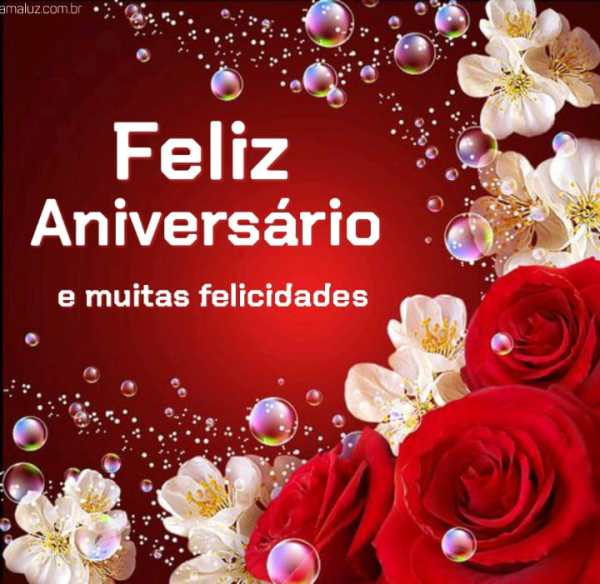 Feliz aniversário e muitas felicidades