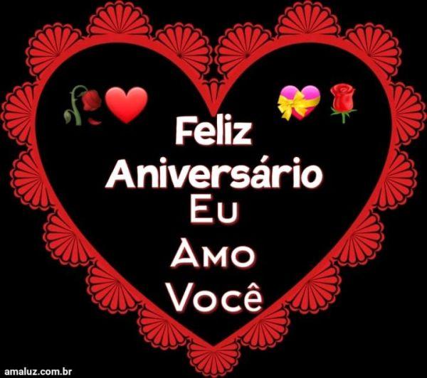 Feliz aniversário eu amo você