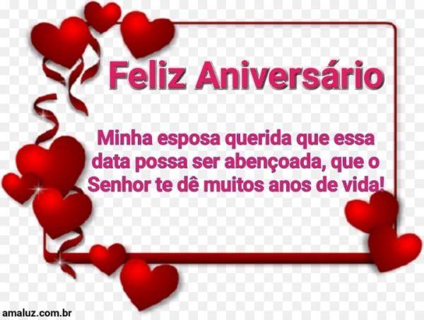 Feliz aniversário minha esposa querida que essa data possa ser abençoada
