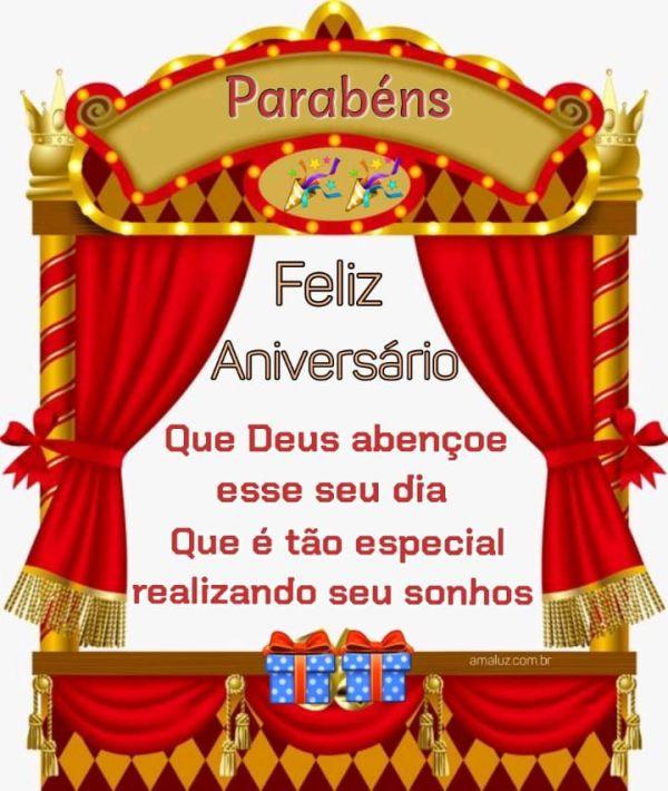 Feliz aniversário que Deus te abençoe nesse seu dia