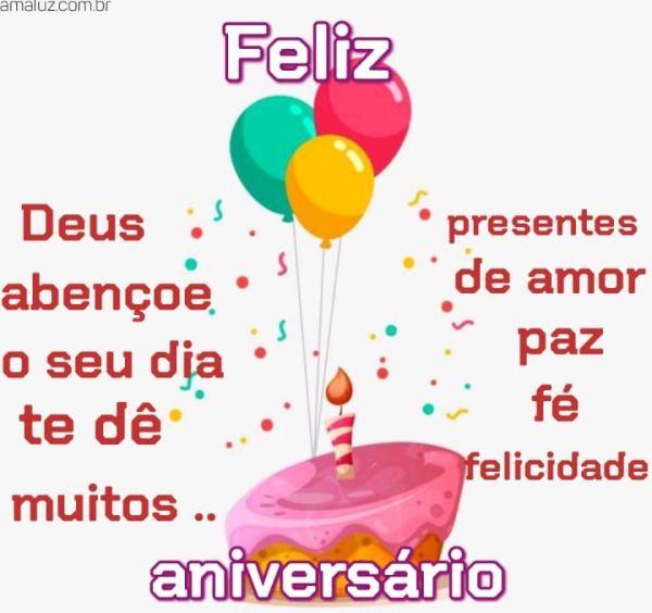 Feliz aniversário seu presente seja de paz amor de fé