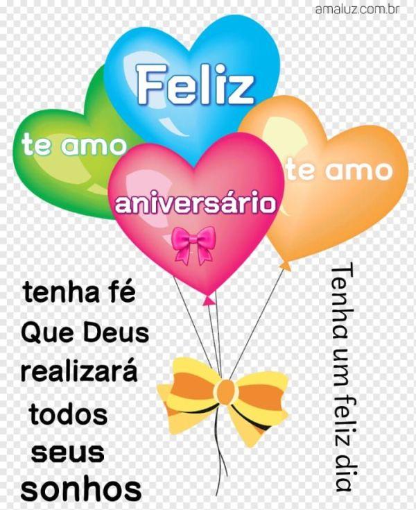 Feliz aniversário tenha fé que Deus realizará todos os seus sonhos