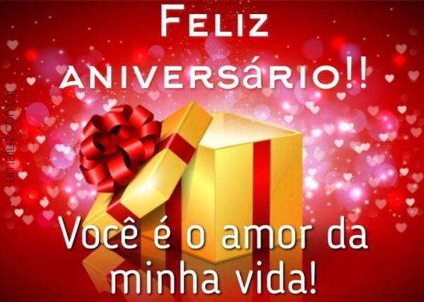 Feliz aniversário você e o amor da minha vida