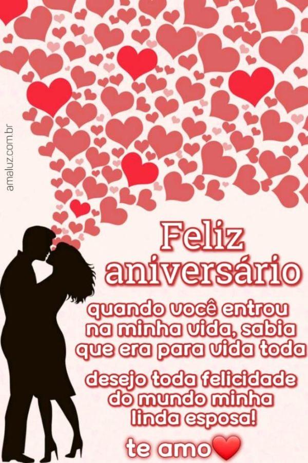 Feliz aniversário você e para sempre na minha vida