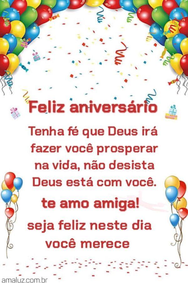 Feliz aniversário tenha fé que Deus irá fazer você prosperar na vida não desista