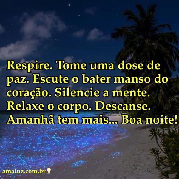 boa noite tome uma dose de paz