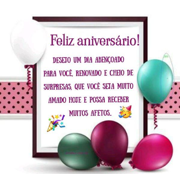 feliz aniversario desejo um dia abençoado a você
