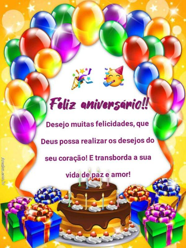 feliz aniversario desejo muitas felicidade