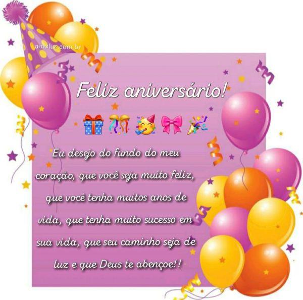 mensagem carinhosa de feliz aniversario