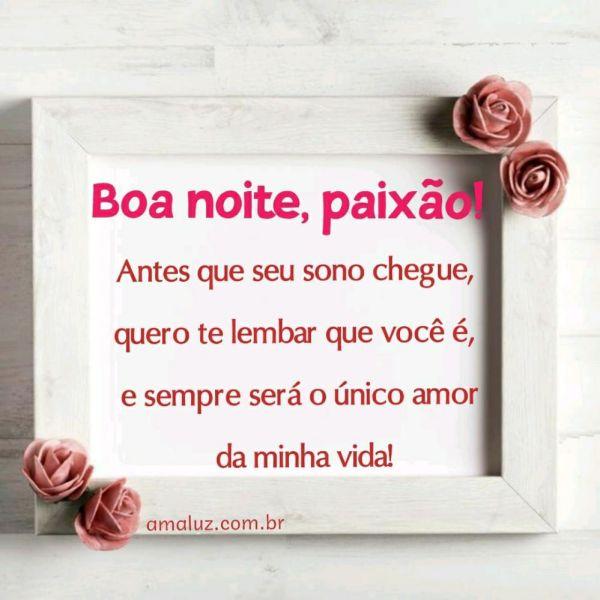 boa noite você é o amor da minha vida apaixonada