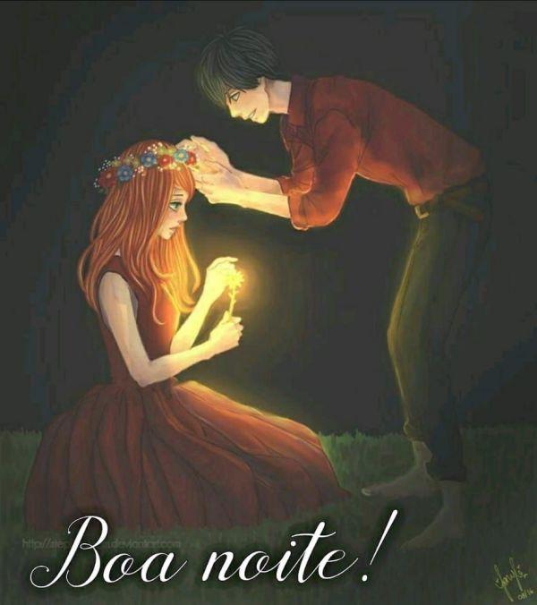 imagem linda de casal e boa noite
