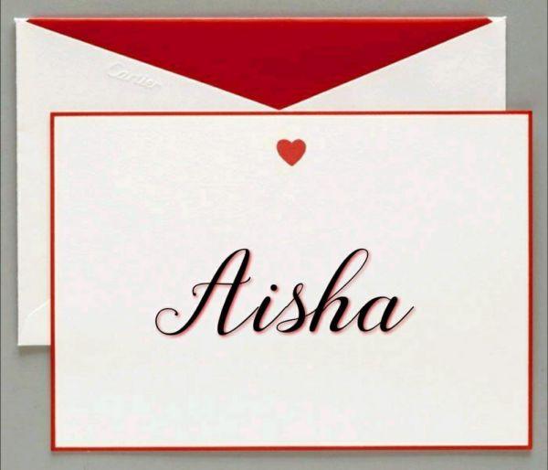 Aisha nome lindo mundo usado no mundo a fora