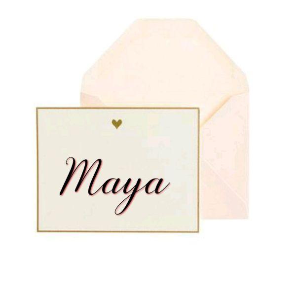 Maya um nome bonito para a sua filha