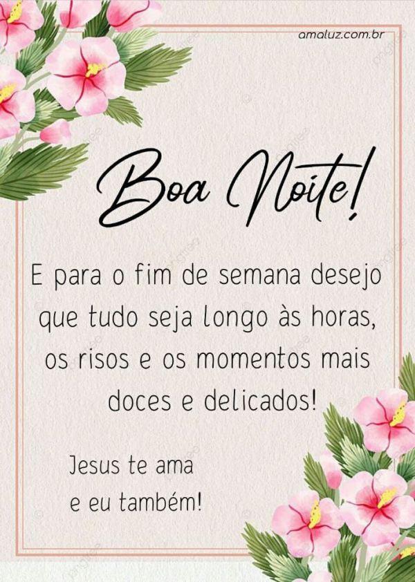 boa noite Jesus te amo e você também
