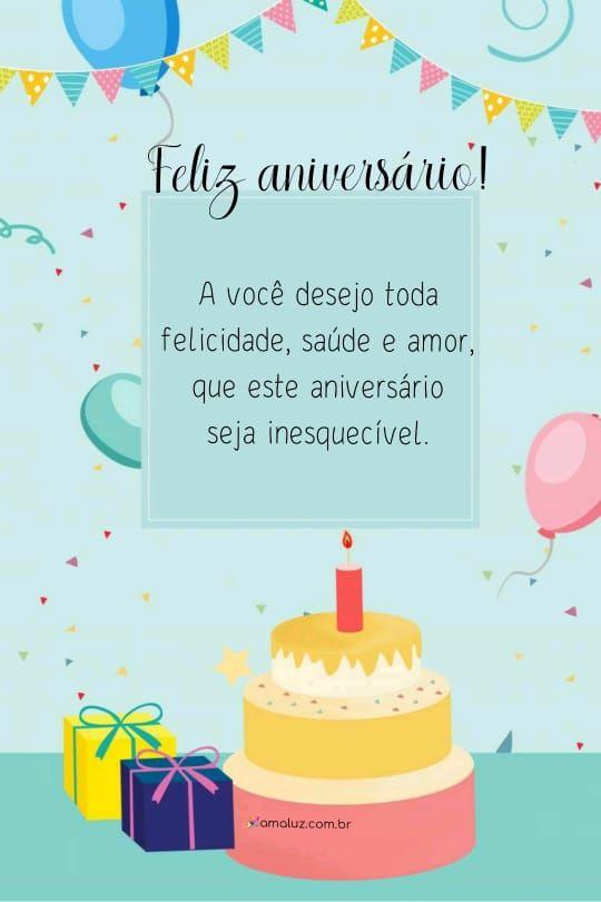 feliz aniversario a você desejo toda felicidade