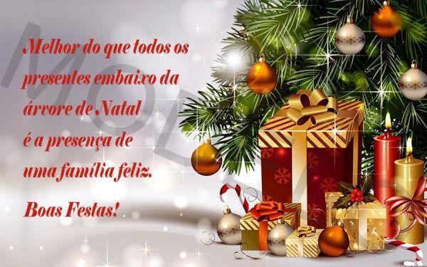 melhor que todos os presentes e ta reunida com a família boas festa e feliz natal