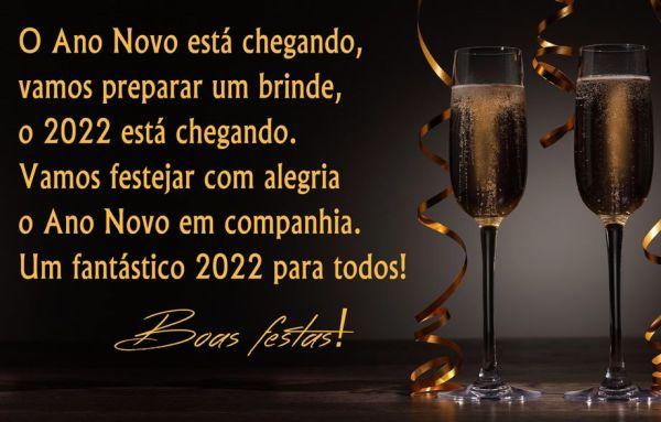 o ano novo de 2022 esta chegando com alegria