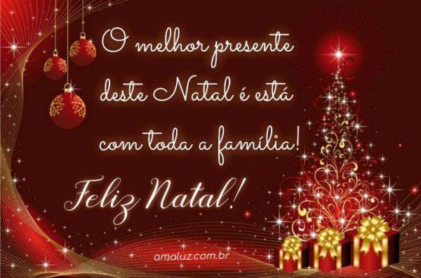 o melhor presente deste natal é esta com a família feliz natal