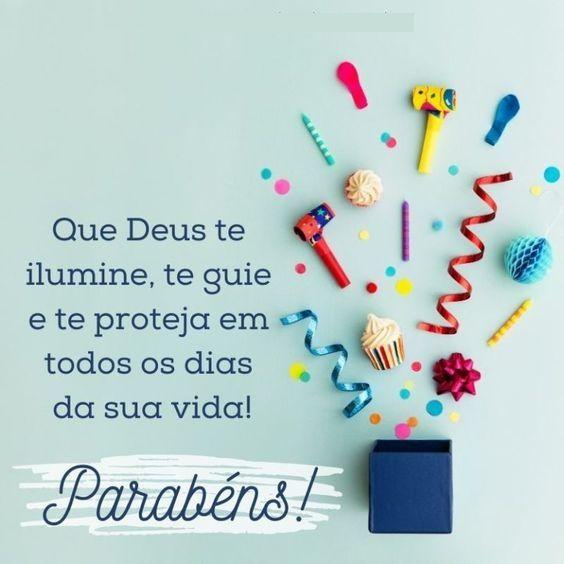parabéns que Deus te ilumine todos os dias da sua vida