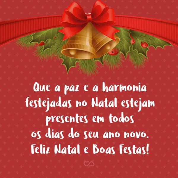 que a harmonia esteja presente em todos os dias do seu ano feliz natal
