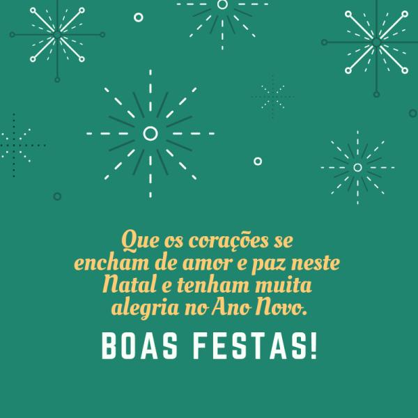 que este natal tenha muita alegria do ano novo boas festas e feliz natal