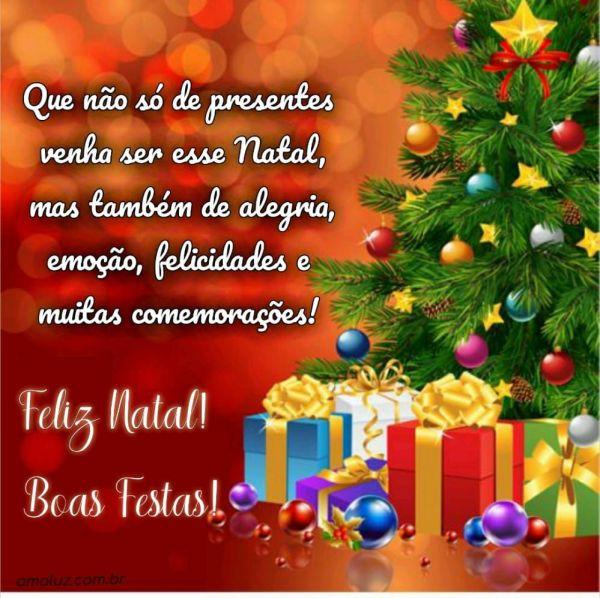 que nem só de presentes venha ser esse natal feliz natal e boas festas