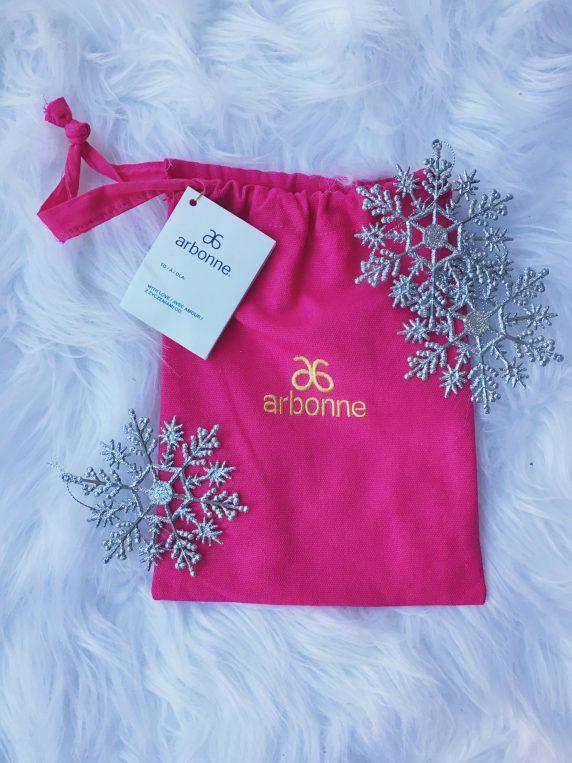 Arbonne pink storage bag