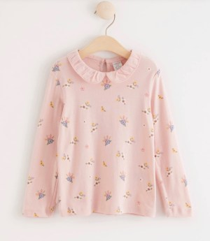 Long Sleeved Top With Collar